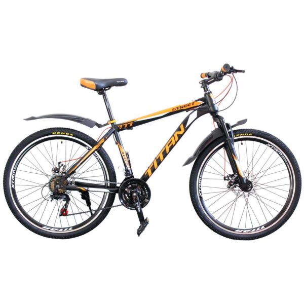 Фото Горный Велосипед Titan Street 26 черно-оранжево-серый