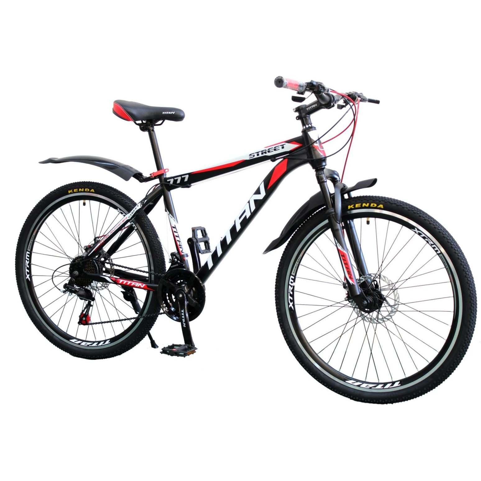 Фото Горный Велосипед Titan Street 26 черно-красно-белый