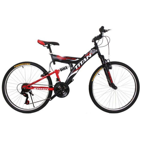 Фото Горный Велосипед Titan Tornado 26  черно-красно-белый