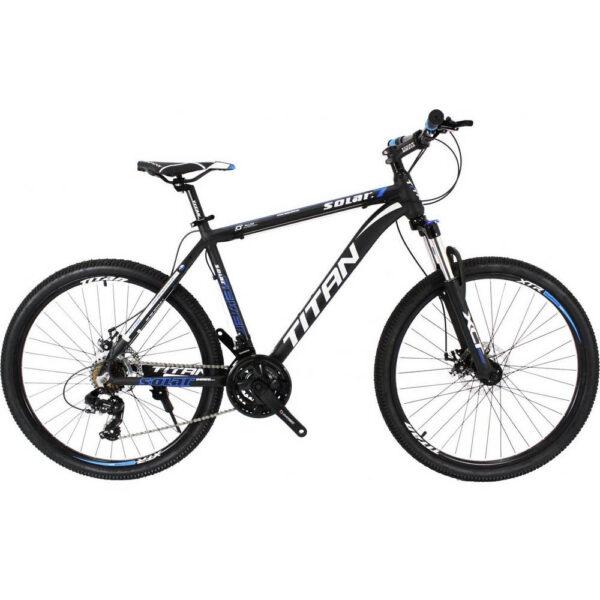 Фото Горный Велосипед Titan Solar 24 черно-сине-серый