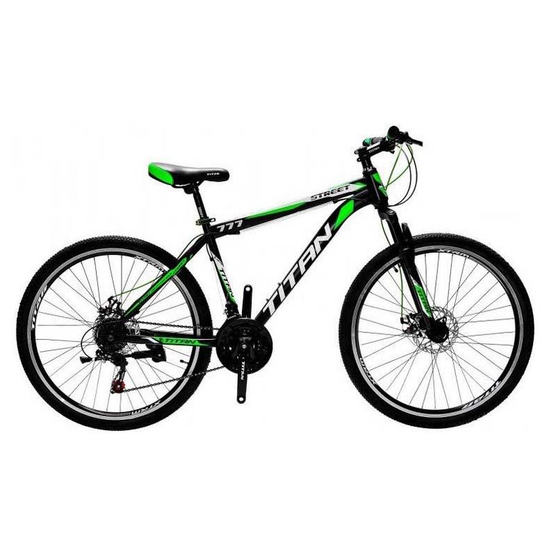 Фото Горный Велосипед Titan Street 26 черно-зелено-белый