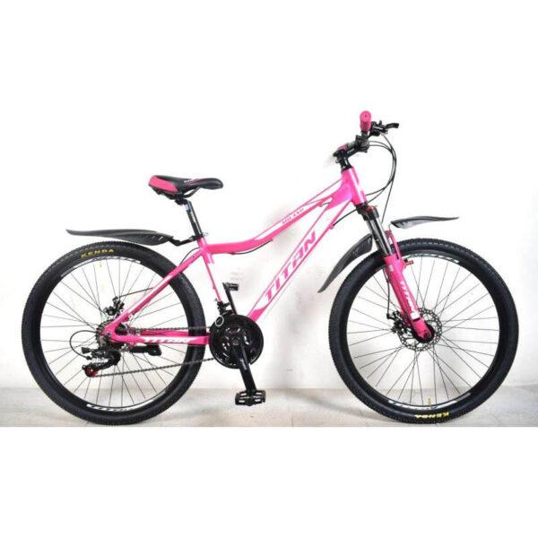 Фото Горный Велосипед Titan Vertu 24 розово-бело-черный