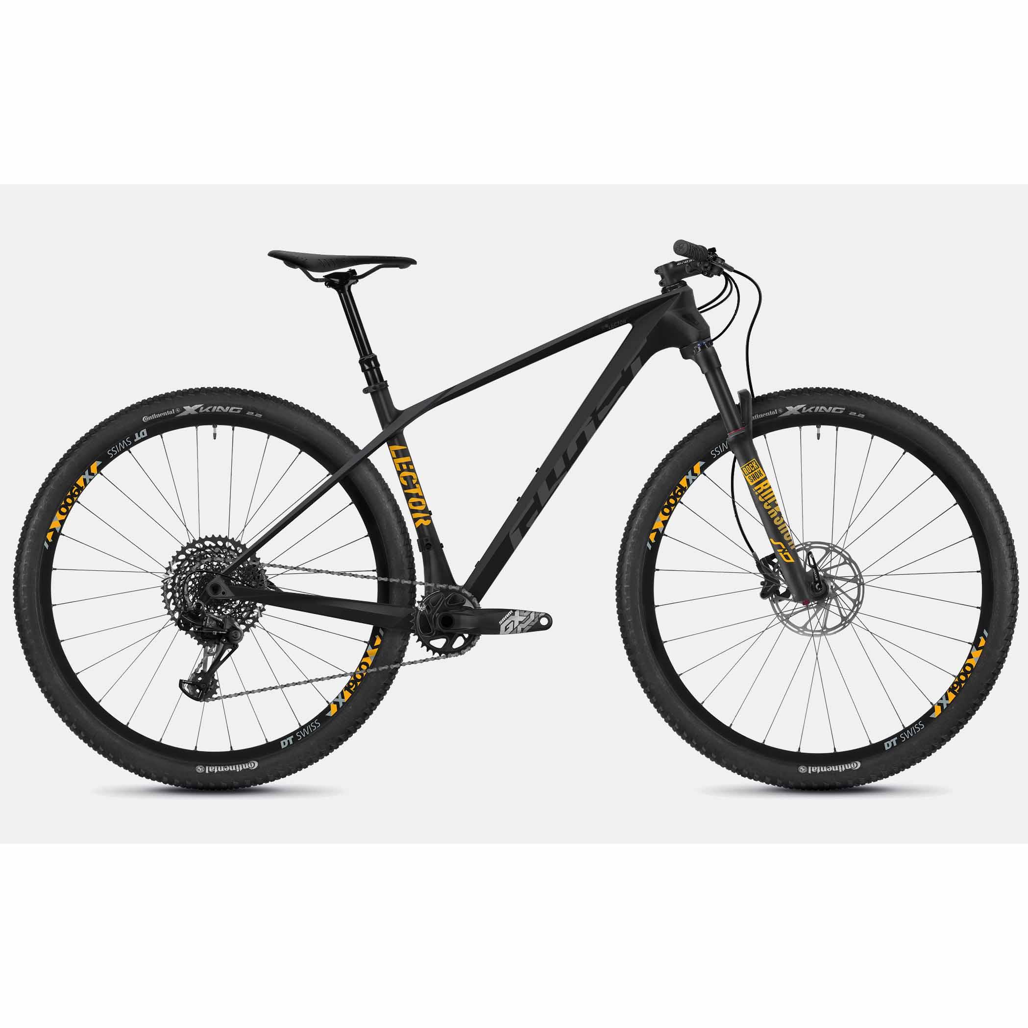 Фото Велосипед Ghost Lector 5.9 29″ , карбон,  рама M, черно-серо-желтый,  2019