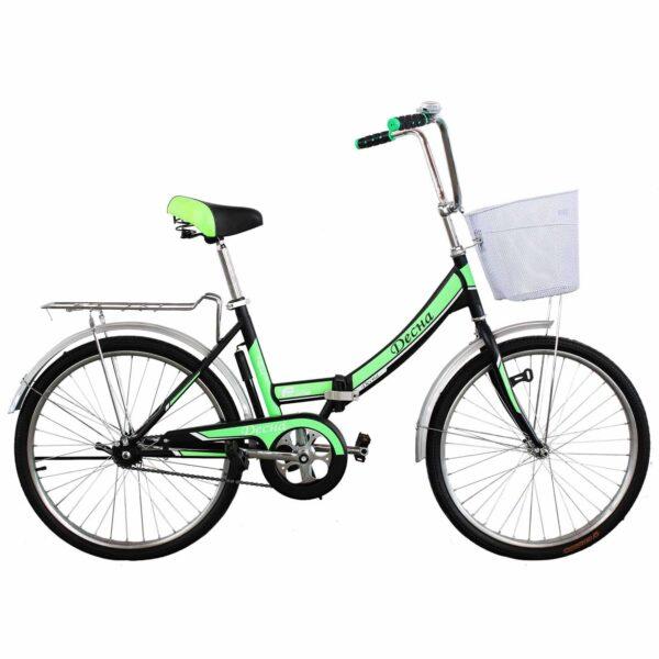 Фото Городской Велосипед Titan Десна 24 черно-зеленый