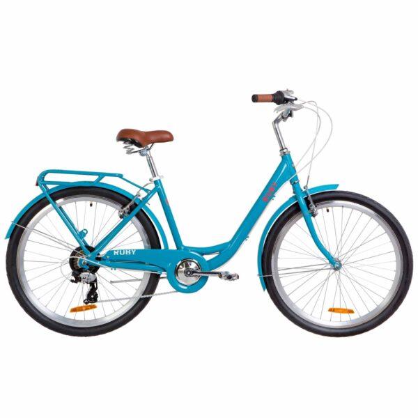 Фото Городской Женский Велосипед 26 Dorozhnik RUBY лазурный 2019