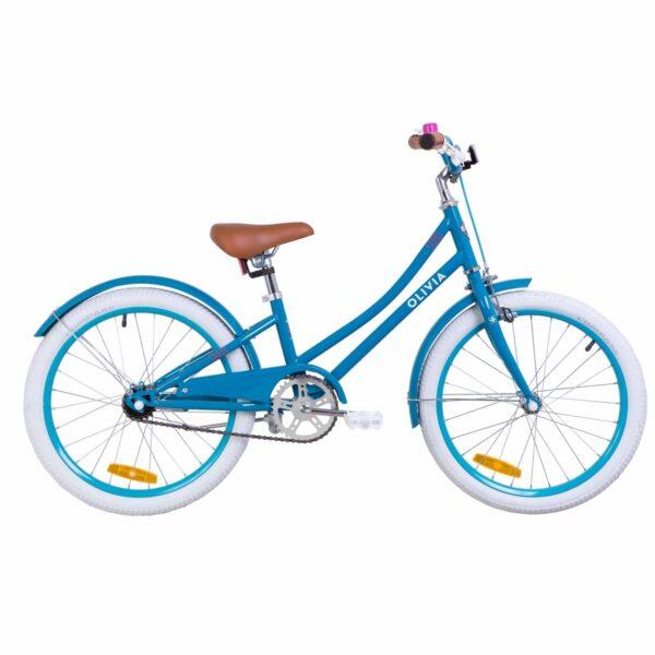 """Фото Детский Велосипед 20"""" Dorozhnik OLIVIA бирюзовый 2019"""