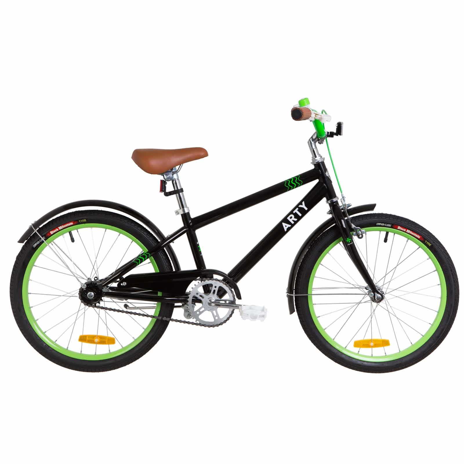 Фото Детский Велосипед 20 Dorozhnik ARTY черно-салатный 2019
