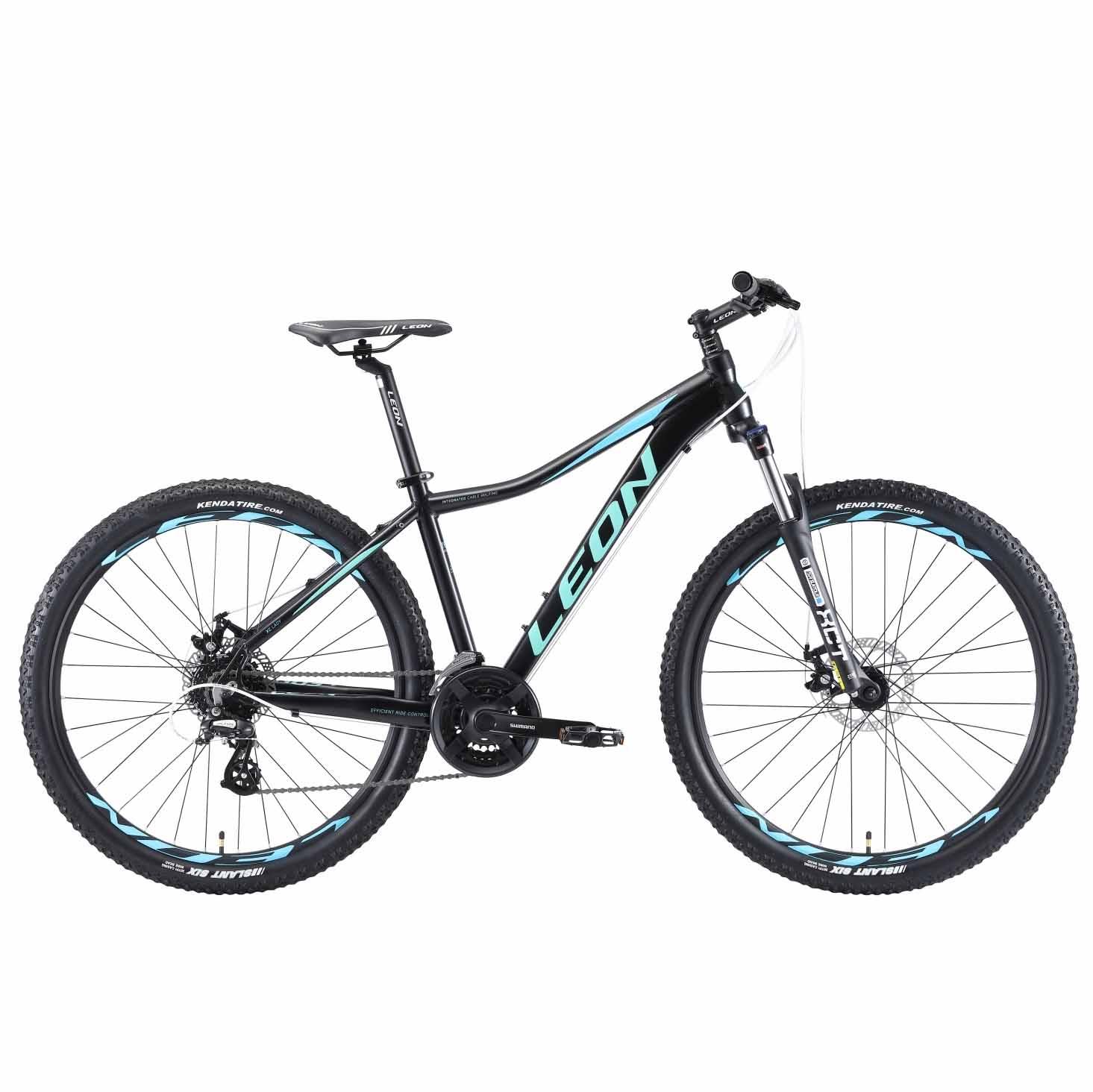 Фото Горный Велосипед 27.5 Leon XC-LADY DD  черно-мятный с голубым  2019
