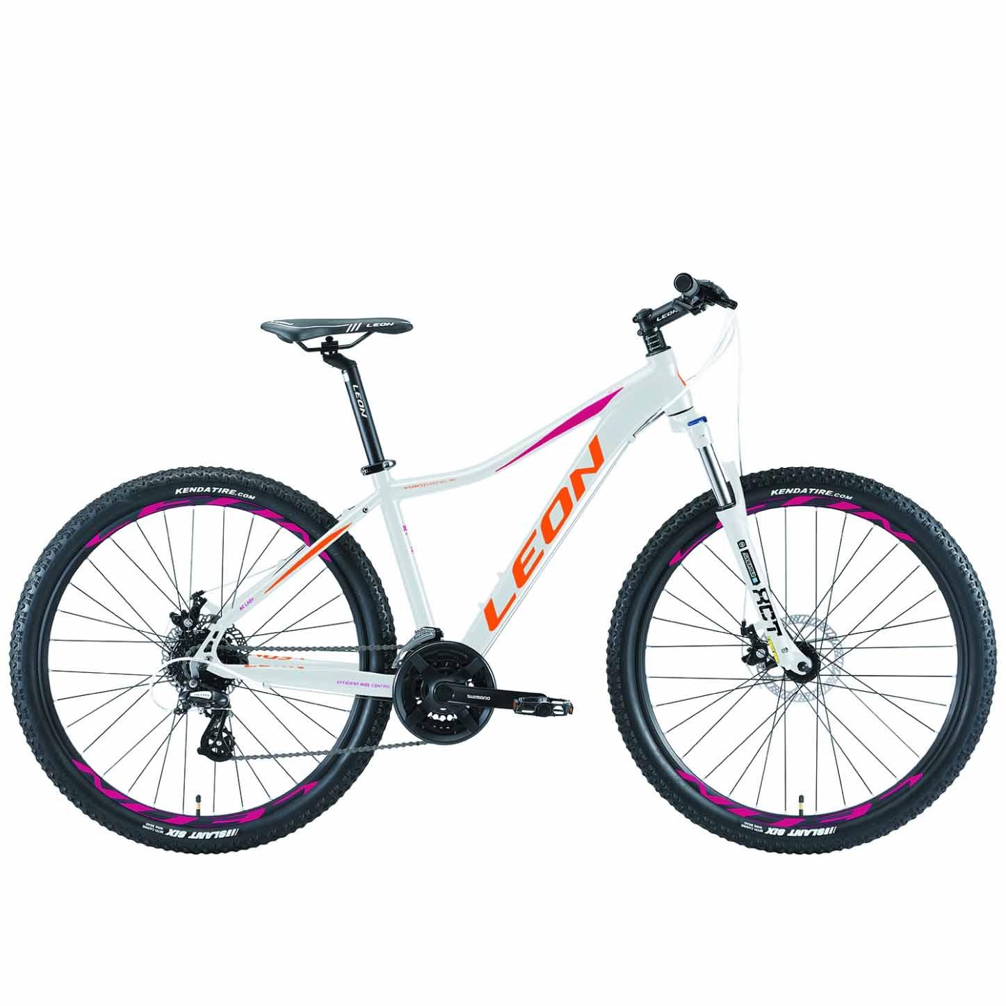 Фото Горный Велосипед 27.5 Leon XC-LADY DD бело-оранжевый с малиновым 2019