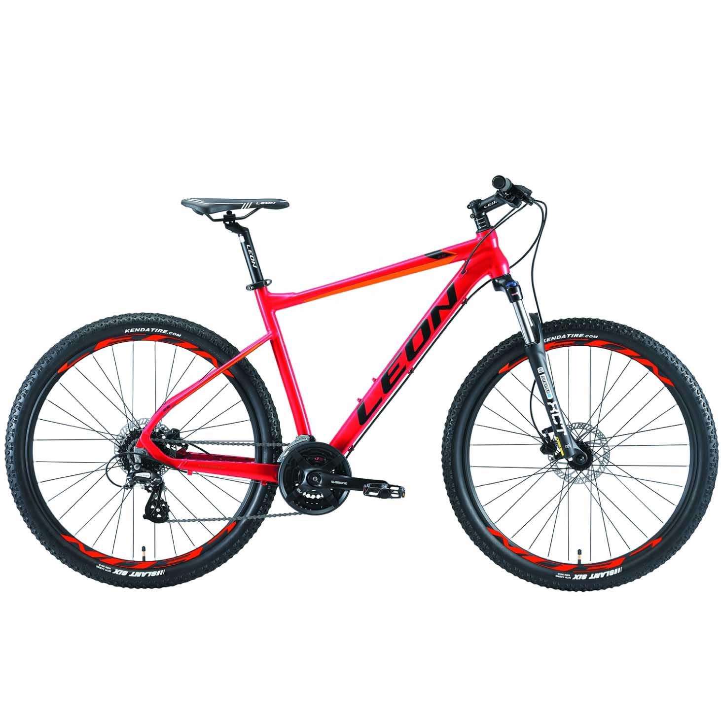 Фото Горный Велосипед 27.5 Leon XC-80 HDD рама-18 красно-оранжевый 2019