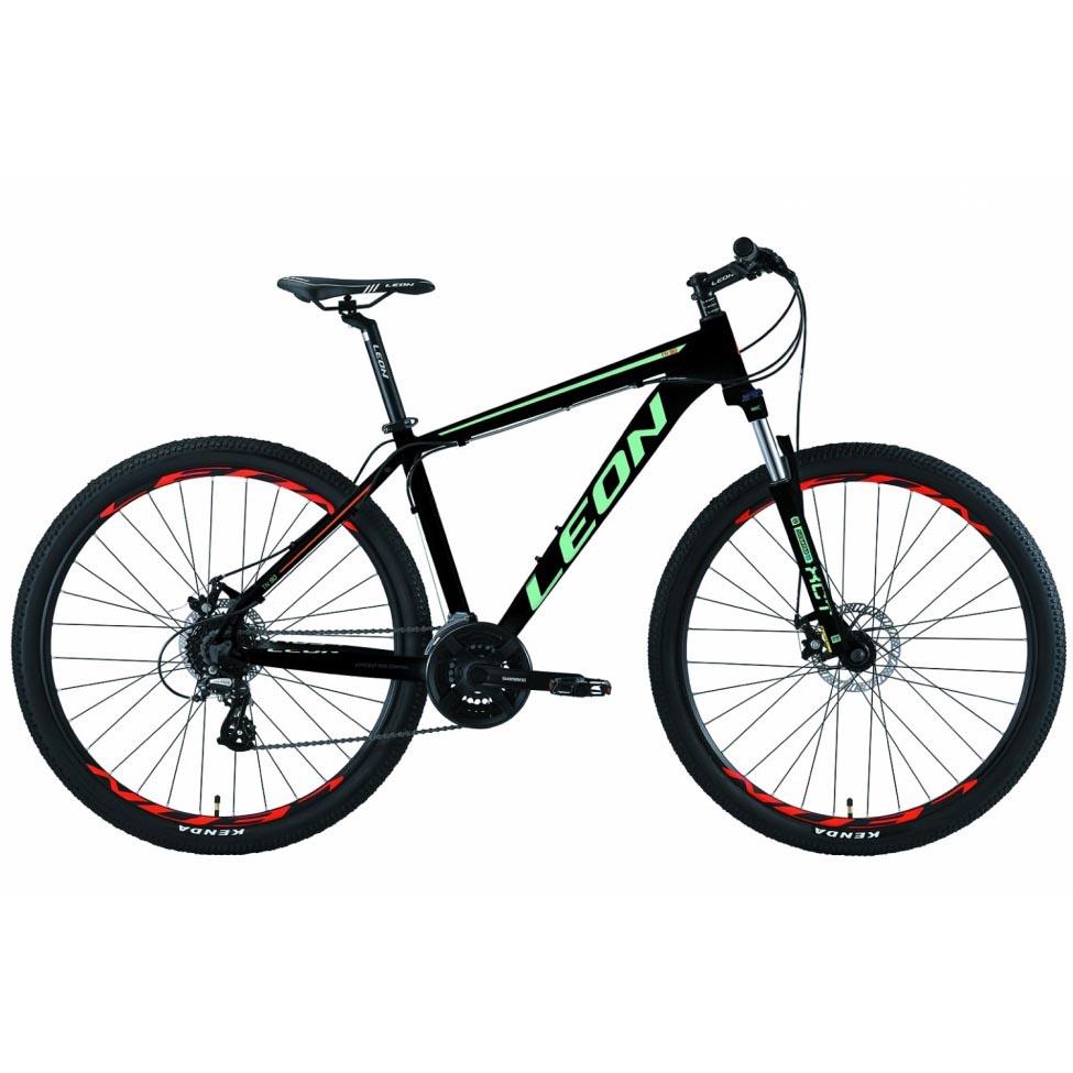 Фото Горный Велосипед 29 Leon TN-90  DD  рама-18  черно-бирюзовый с оранжевым   2019