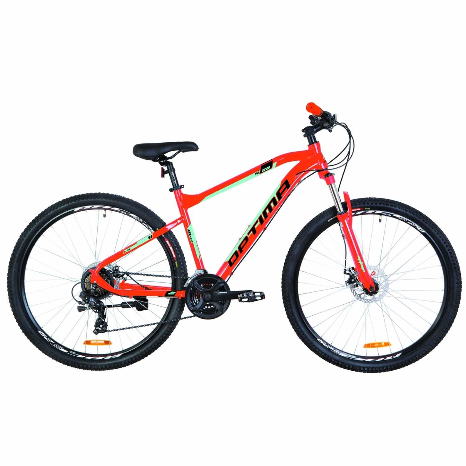 Фото Горный Велосипед 29 Optimabikes F-1 DD  рама-18 оранжево-бирюзовый   2019