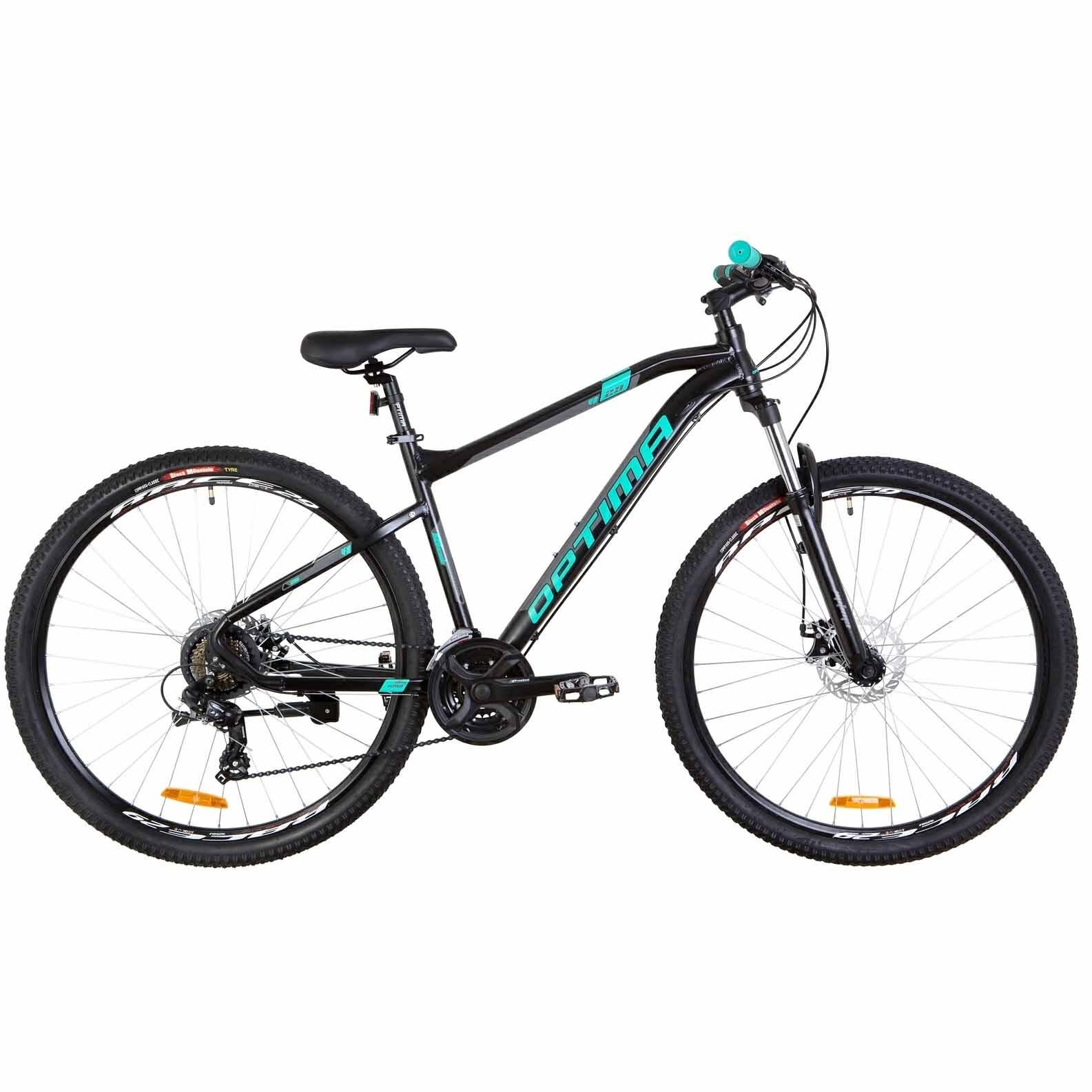 Фото Горный Велосипед 26 Optimabikes F-1 DD  рама-18 черно-бирюзовый (м)   2019
