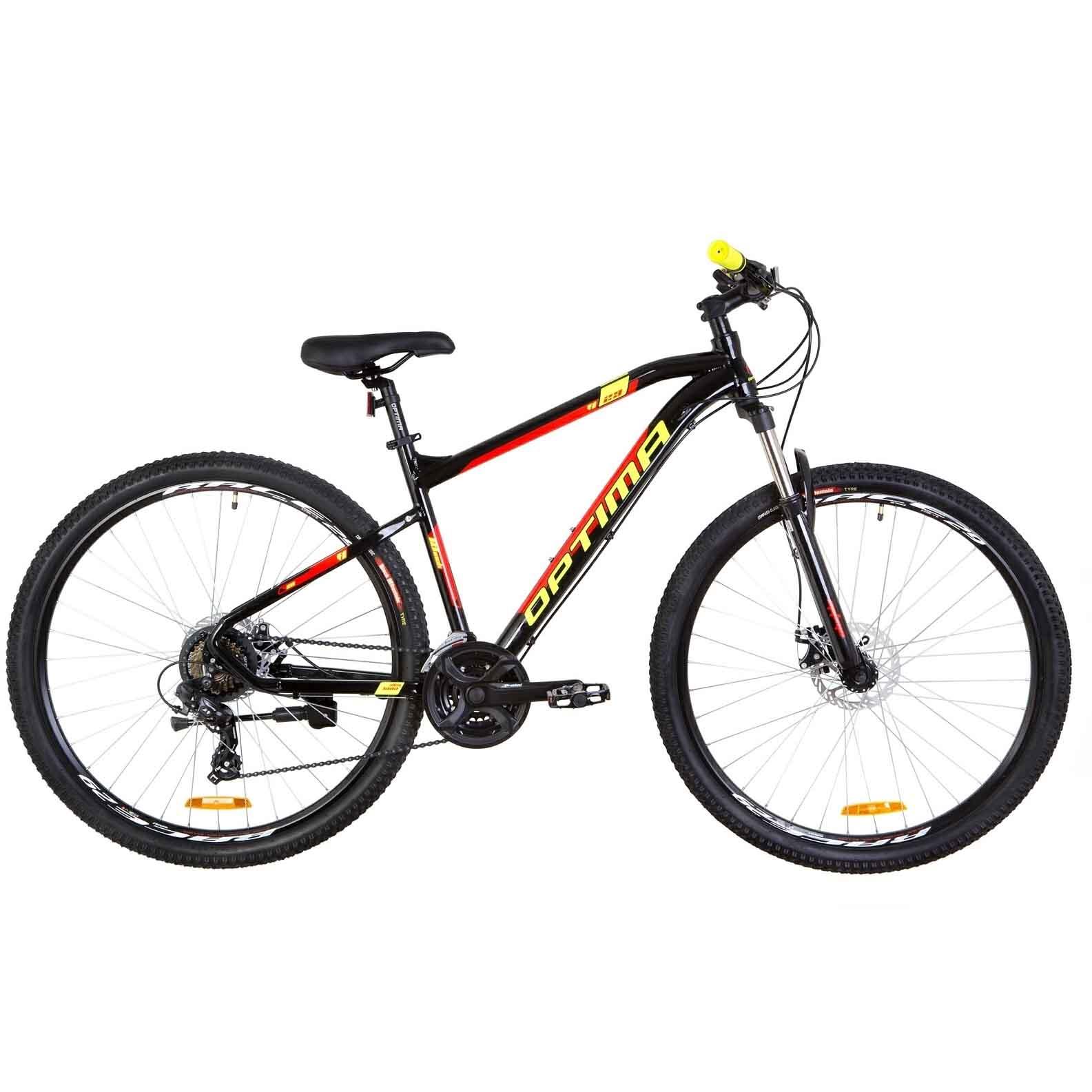 Фото Горный Велосипед 29 Optimabikes F-1 DD  рама-18 черно-красный с желтым   2019