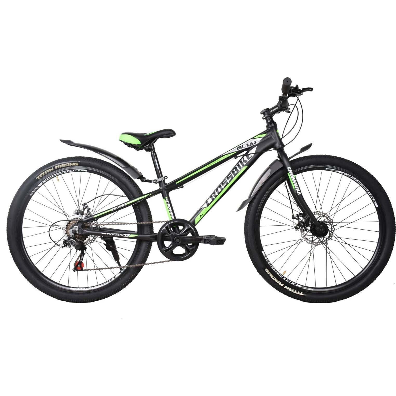 Фото Подростковый Велосипед Cross Blast 26 черно-серо-зеленый