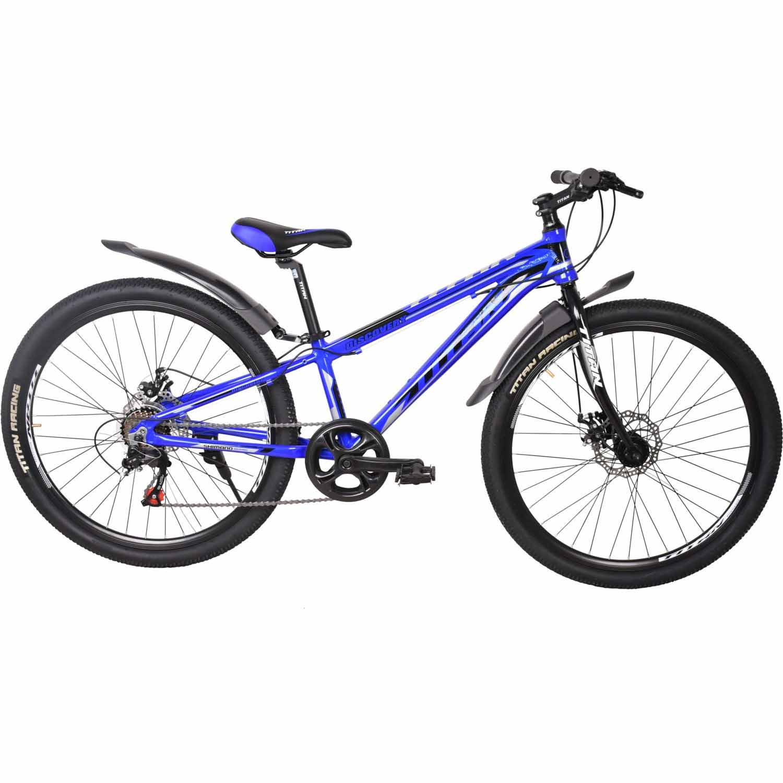 Фото Велосипед Titan Discovery 26 рама-11″ сине-черно-серебристый  2019