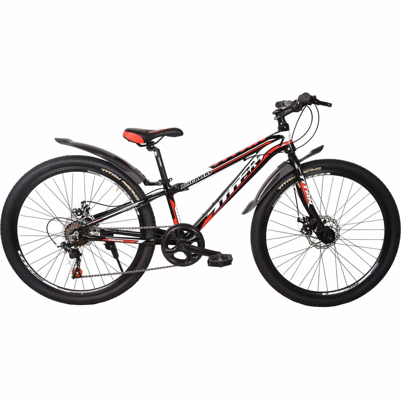 Фото Велосипед Titan Discovery 26 черно-бело-красный 2019