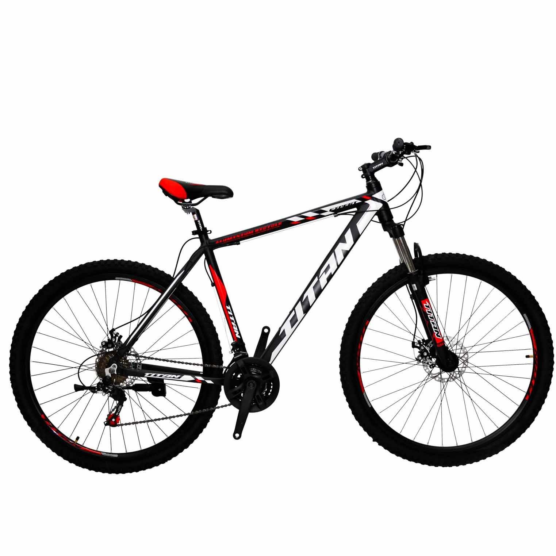 Фото Горный Велосипед Titan Expert 29 черно-сине-белый 2019