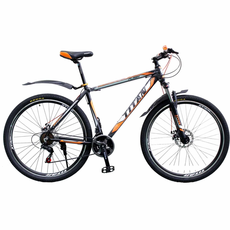Фото Горный Велосипед Titan Flash 29 черно-оранжево-белый