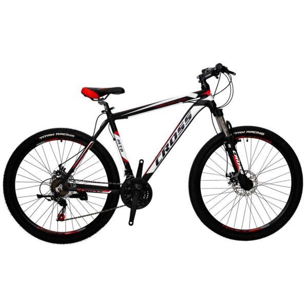 Фото Горный Велосипед Cross Hunter 27.5 черно-бело-красный