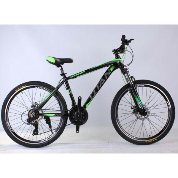 Фото Горный Велосипед Titan Scorpion 26 черно-зелено-серый