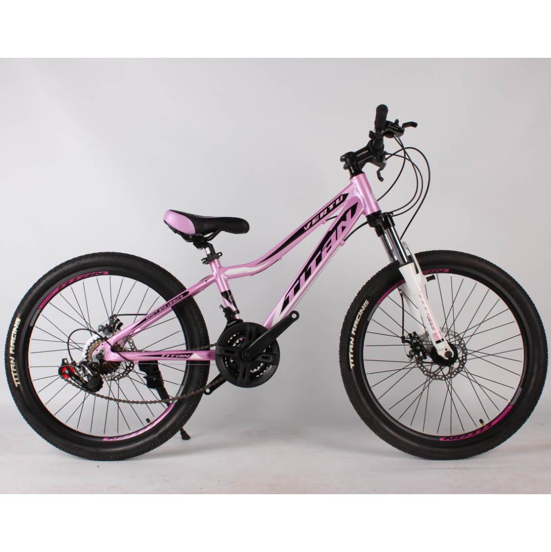 Фото Горный Велосипед Titan Vertu 24 розово-черно-белый
