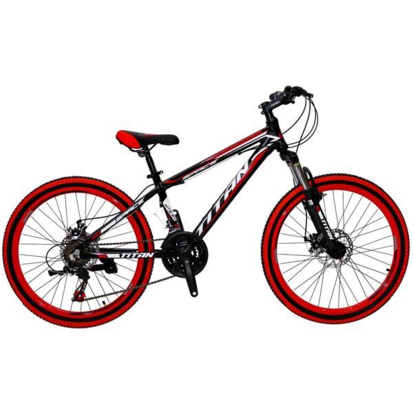 Фото Горный Подростковый Велосипед Titan Space 24 черно-красно-белый