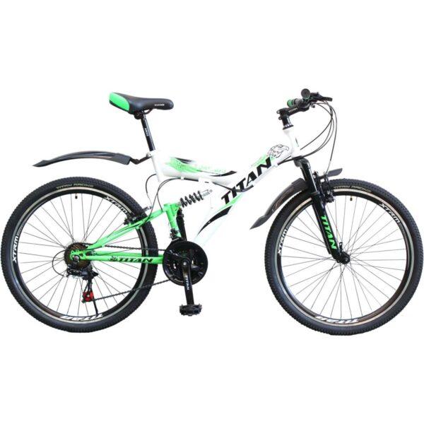 Фото Горный Велосипед Titan Tornado 26  бело-черно-зеленый