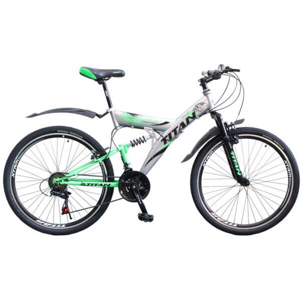 Фото Горный Велосипед Titan Tornado 26  серо-черно-зеленый