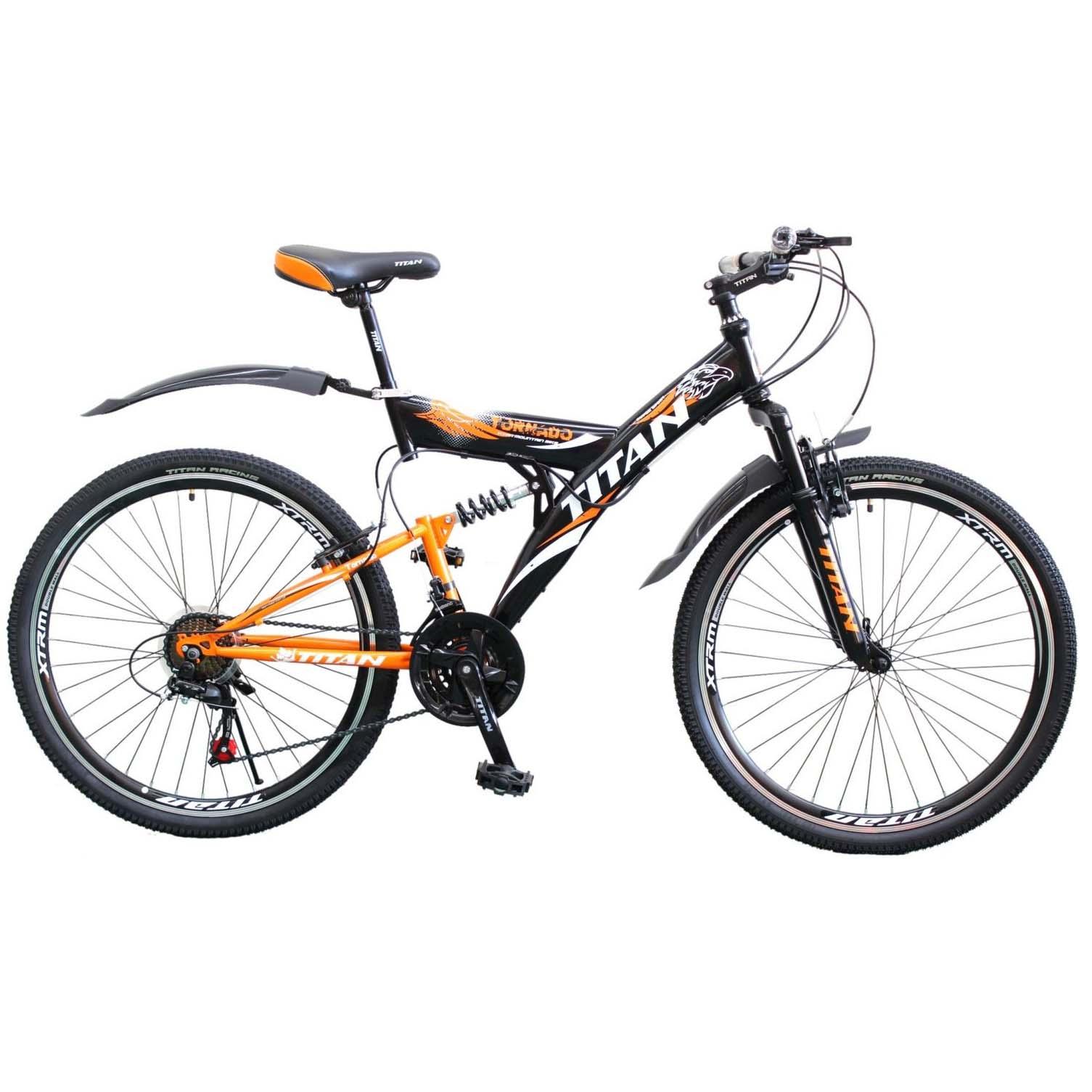 Фото Горный Велосипед Titan Tornado 26  черно-оранжево-белый