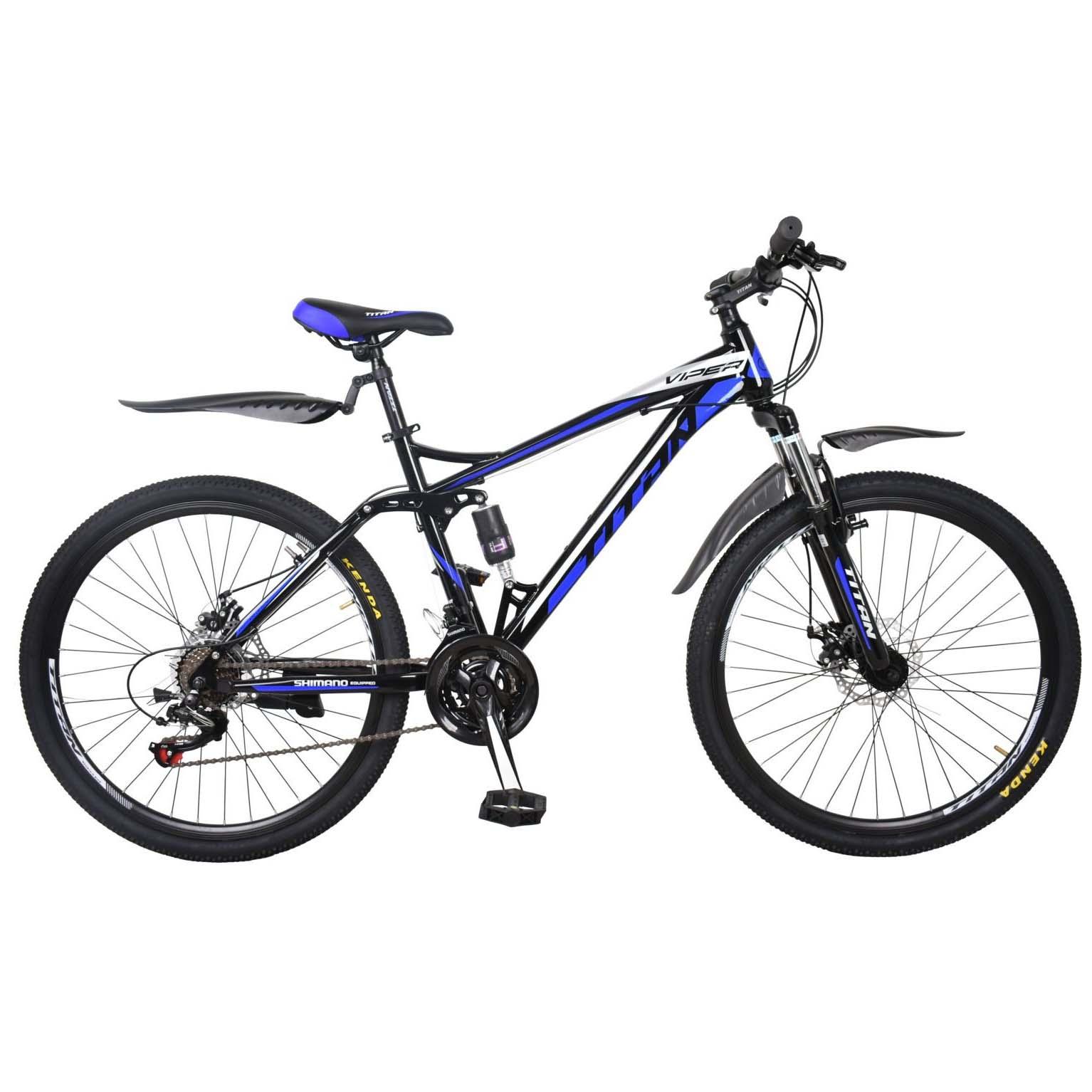 Фото Горный Велосипед 26 Titan Viper черно-сине-белый 2019