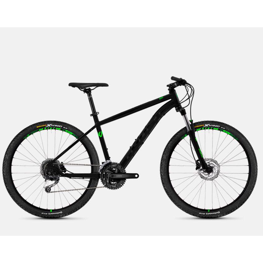 Фото Велосипед Ghost Kato 4.7 27.5″ , рама M , черно-зеленый