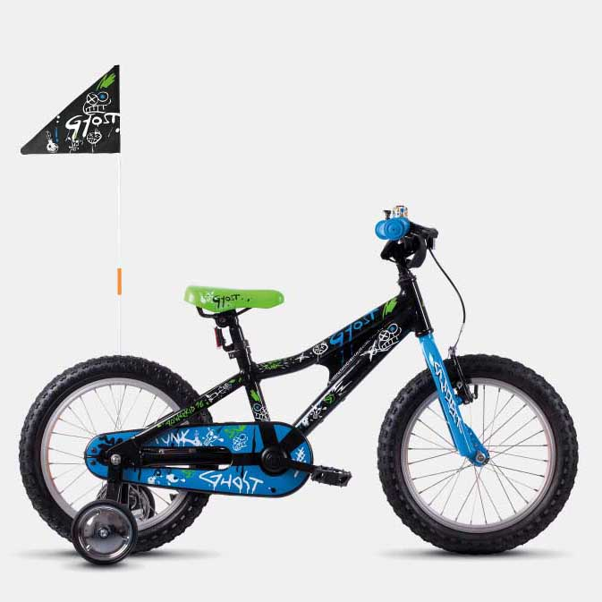 Фото Велосипед Ghost POWERKID 16″ ,черно-сине-белый,  2019