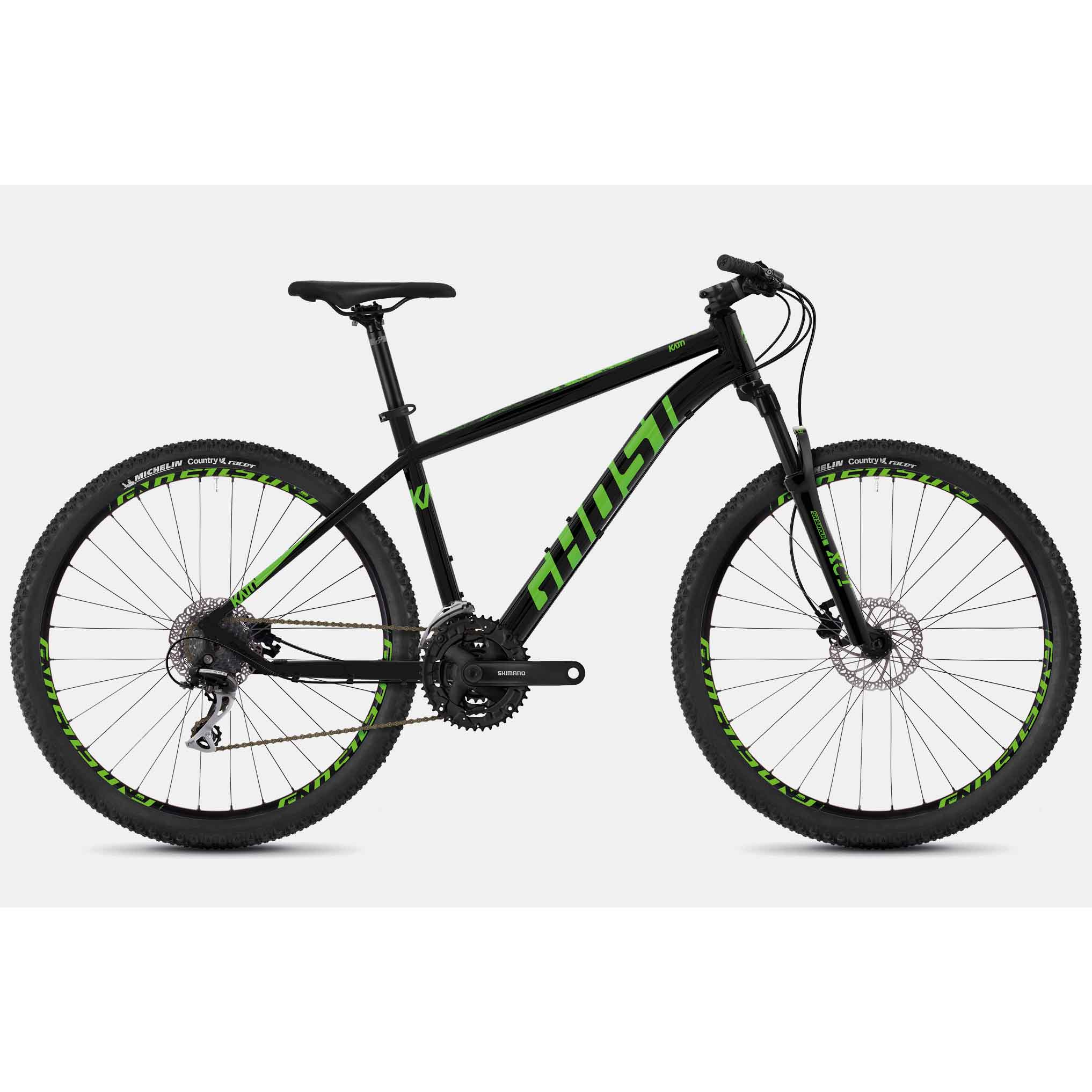 Фото Велосипед Ghost Kato 2.7 27,5″ черно-зеленый, L, 2019