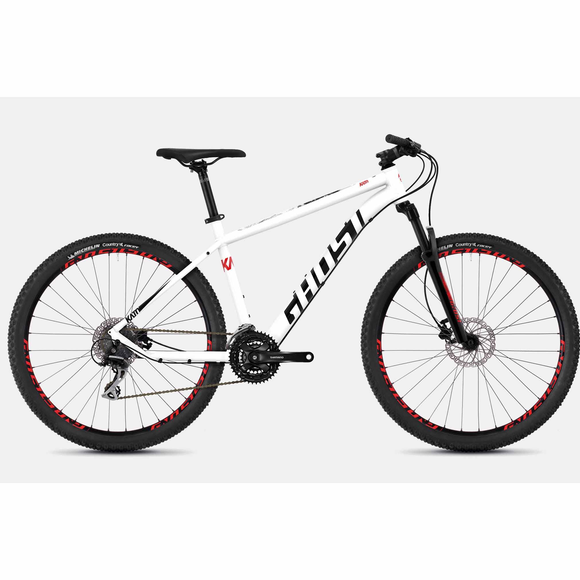 Фото Велосипед Ghost Kato 3.7 27,5″ бело-красно-черный, L, 2019