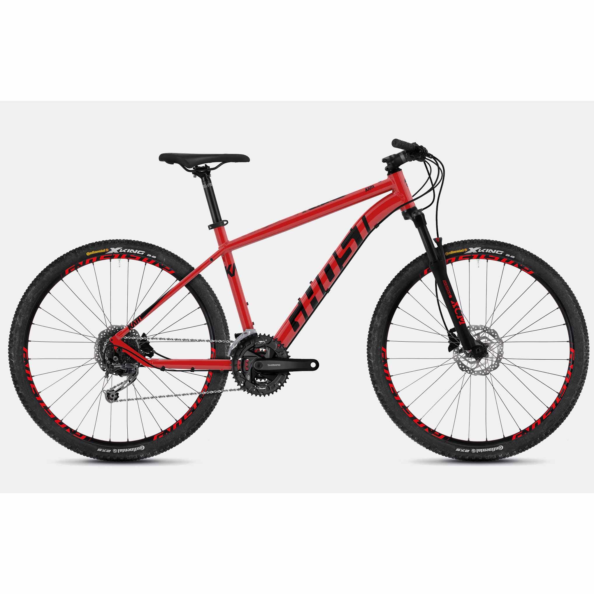 Фото Велосипед Ghost Kato 4.7 27.5″ , рама M, красно-черный,2019