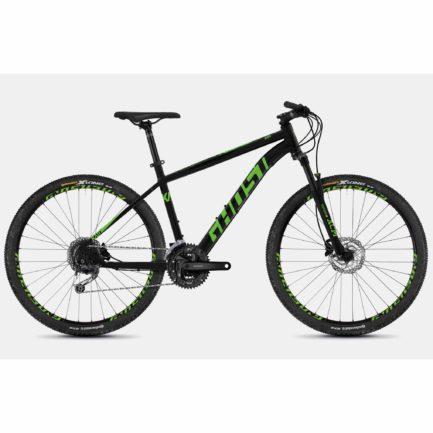 "Фото Велосипед Ghost Kato 4.7 27,5"" черно-зеленый, M, 2019"