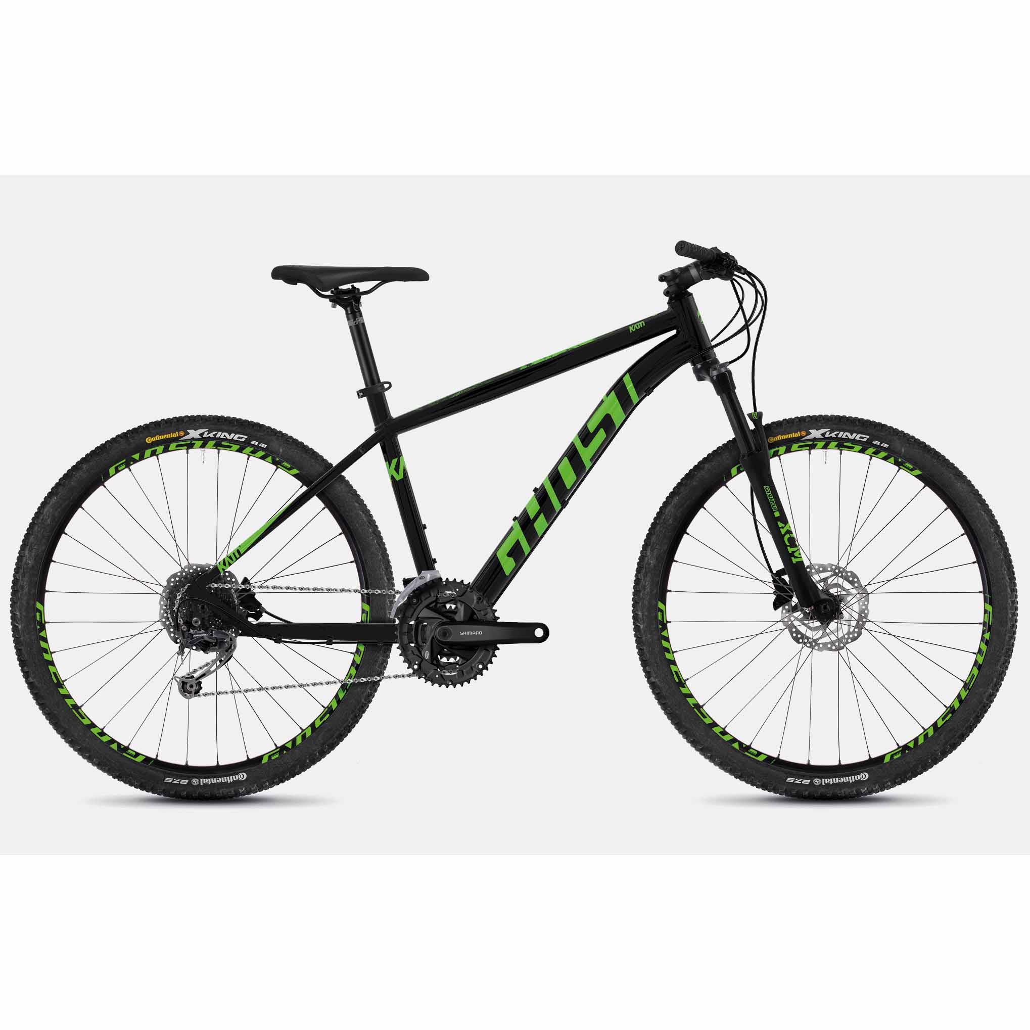 Фото Велосипед Ghost Kato 4.7 27,5″ черно-зеленый, L, 2019