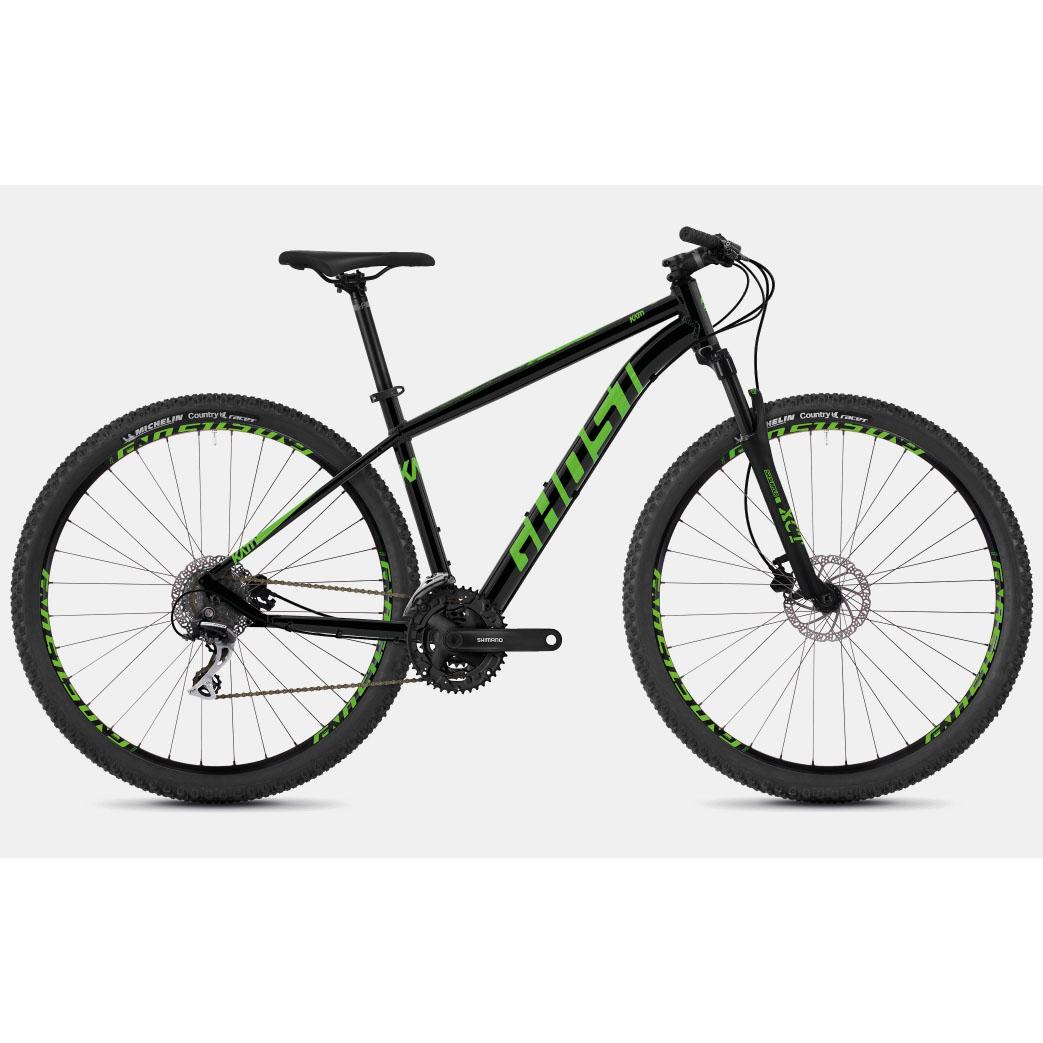 Фото Велосипед Ghost Kato 2.7 27,5″ черно-зеленый, M, 2019