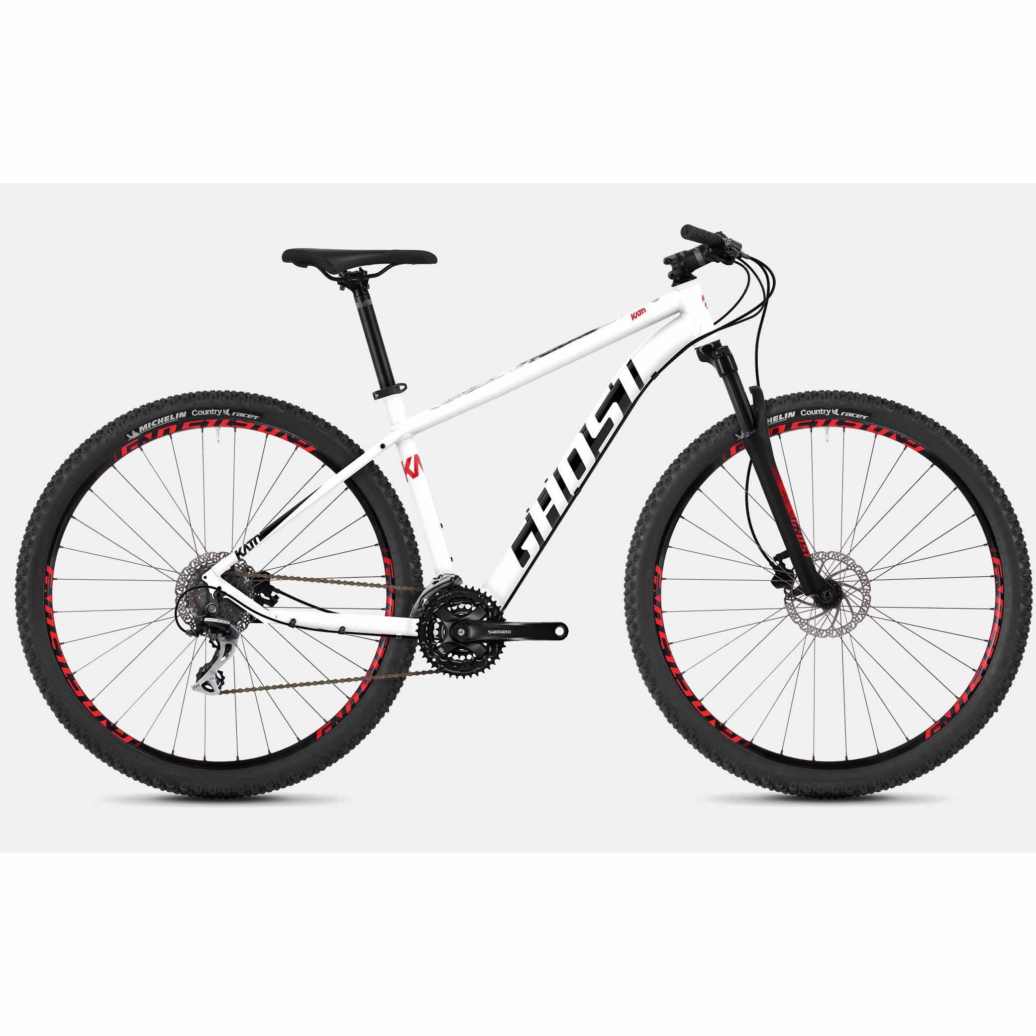Фото Велосипед Ghost Kato 3.9 29″,  рама XL,  бело-красно-черный, 2019