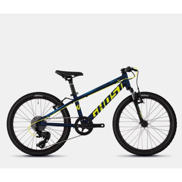 "Фото Велосипед Ghost Kato 2.0 20"" черный-желтый-синий,  2019"