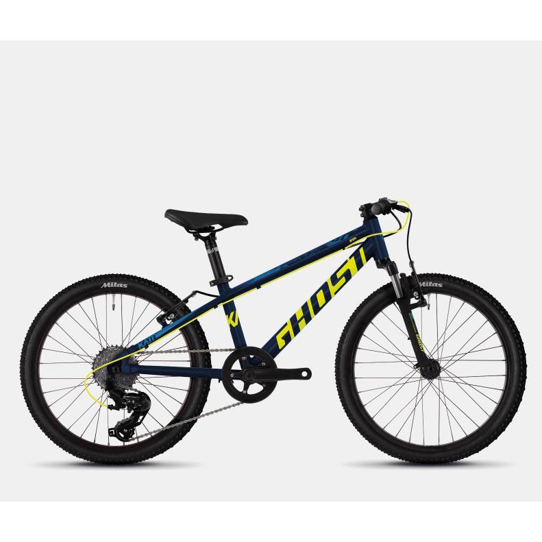Фото Велосипед Ghost Kato 2.0 20″ черный-желтый-синий,  2019