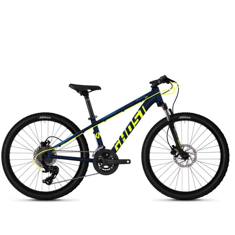 Фото Велосипед Ghost Kato D4.4 24″, сине-желтый, 2019