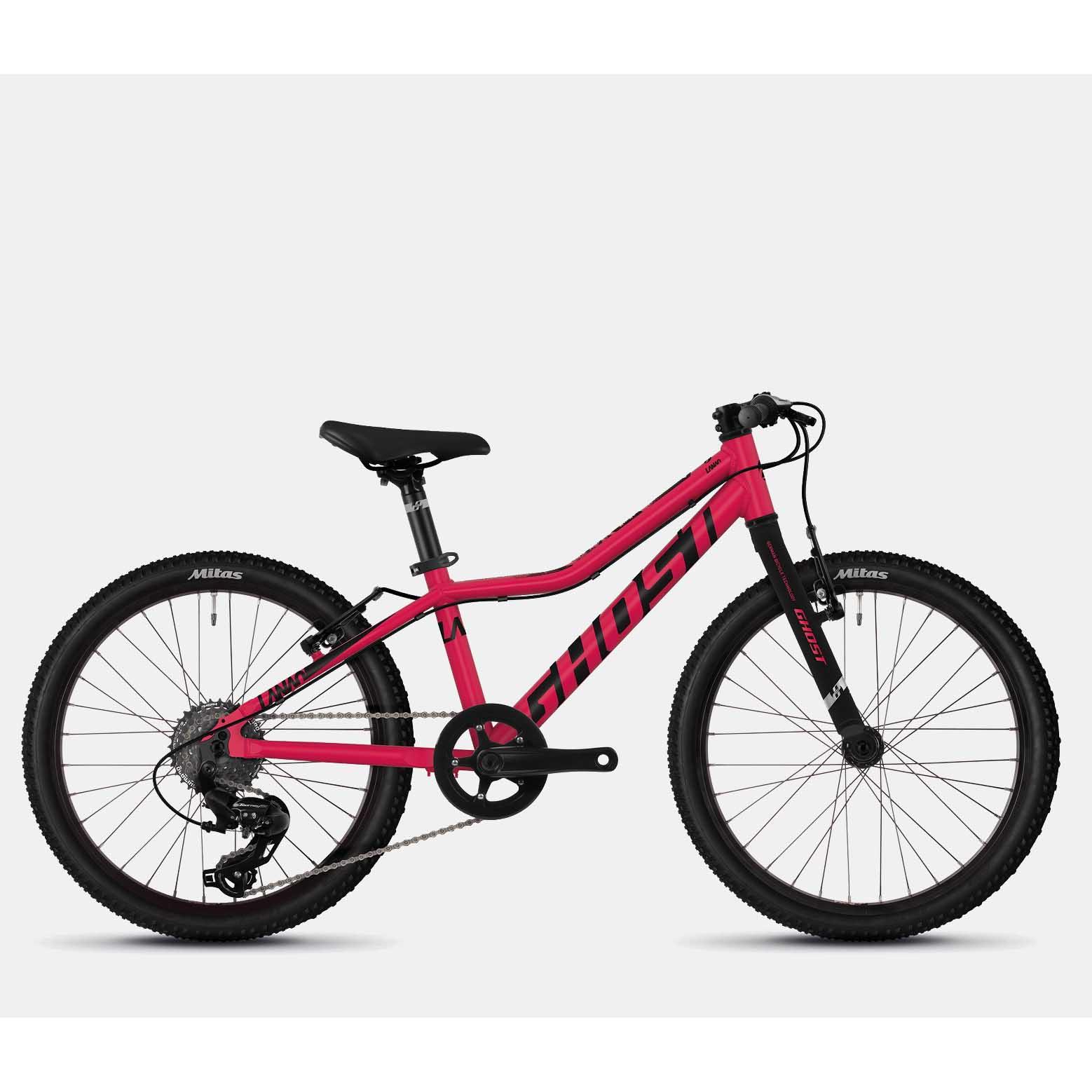 Фото Велосипед Ghost Lanao R1.0 20″ , малиново черный,  2019