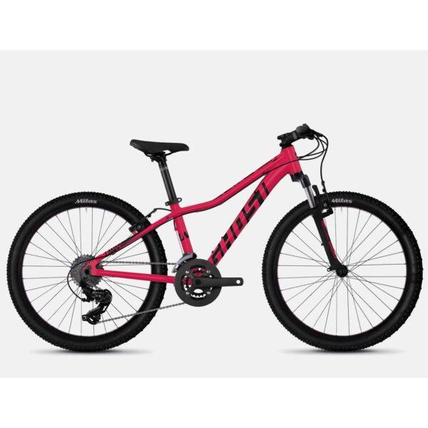 """Фото Велосипед Ghost Lanao 2.4 24"""" , красно-черный, 2019"""