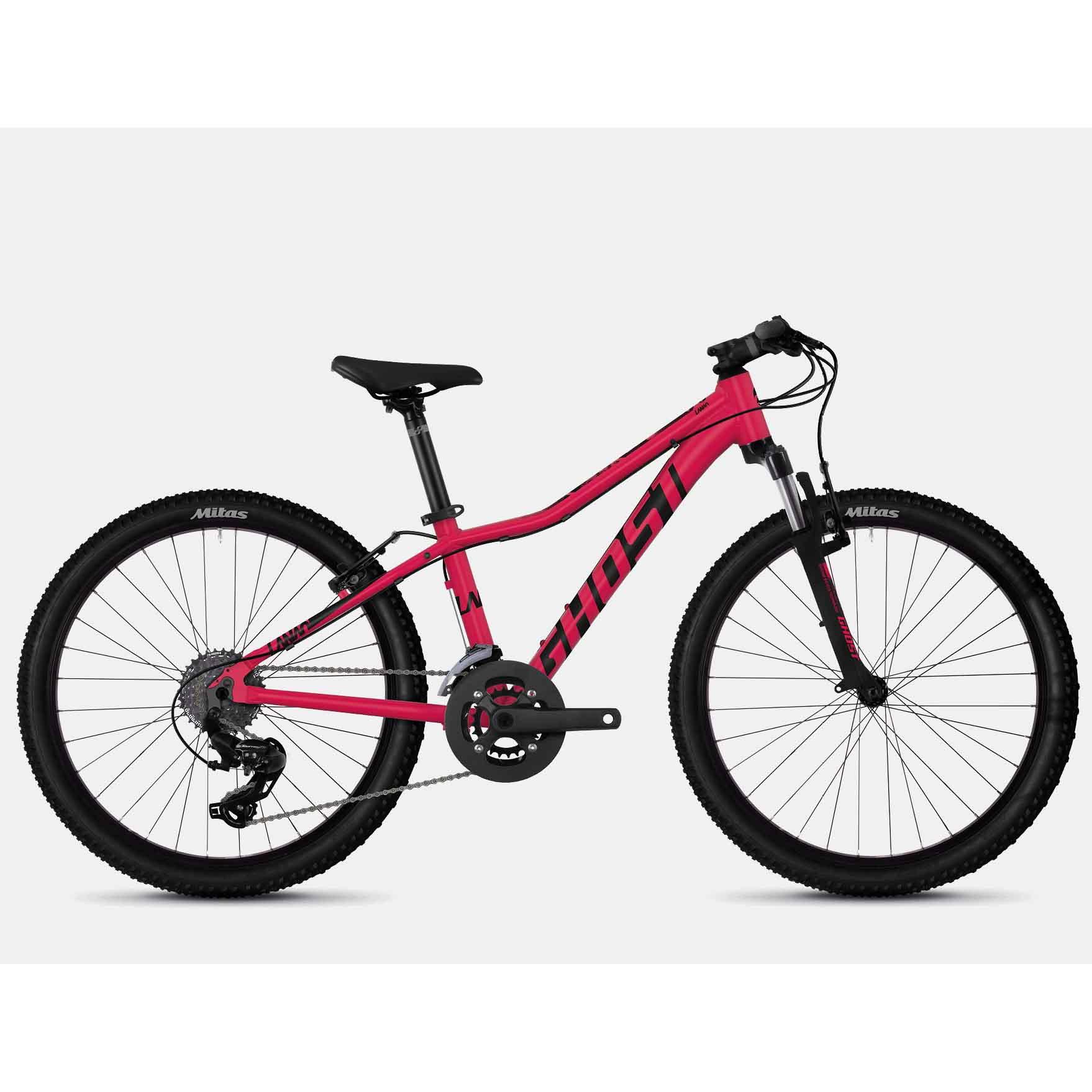 Фото Велосипед Ghost Lanao 2.4 24″ , красно-черный, 2019