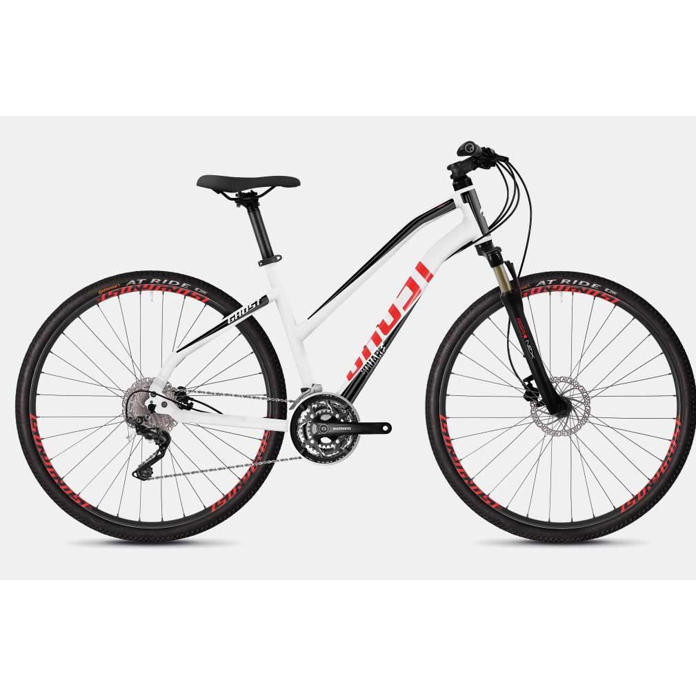 Фото Велосипед Ghost Square Cross 2.8 28″ бело-черно-красный, M, 2019