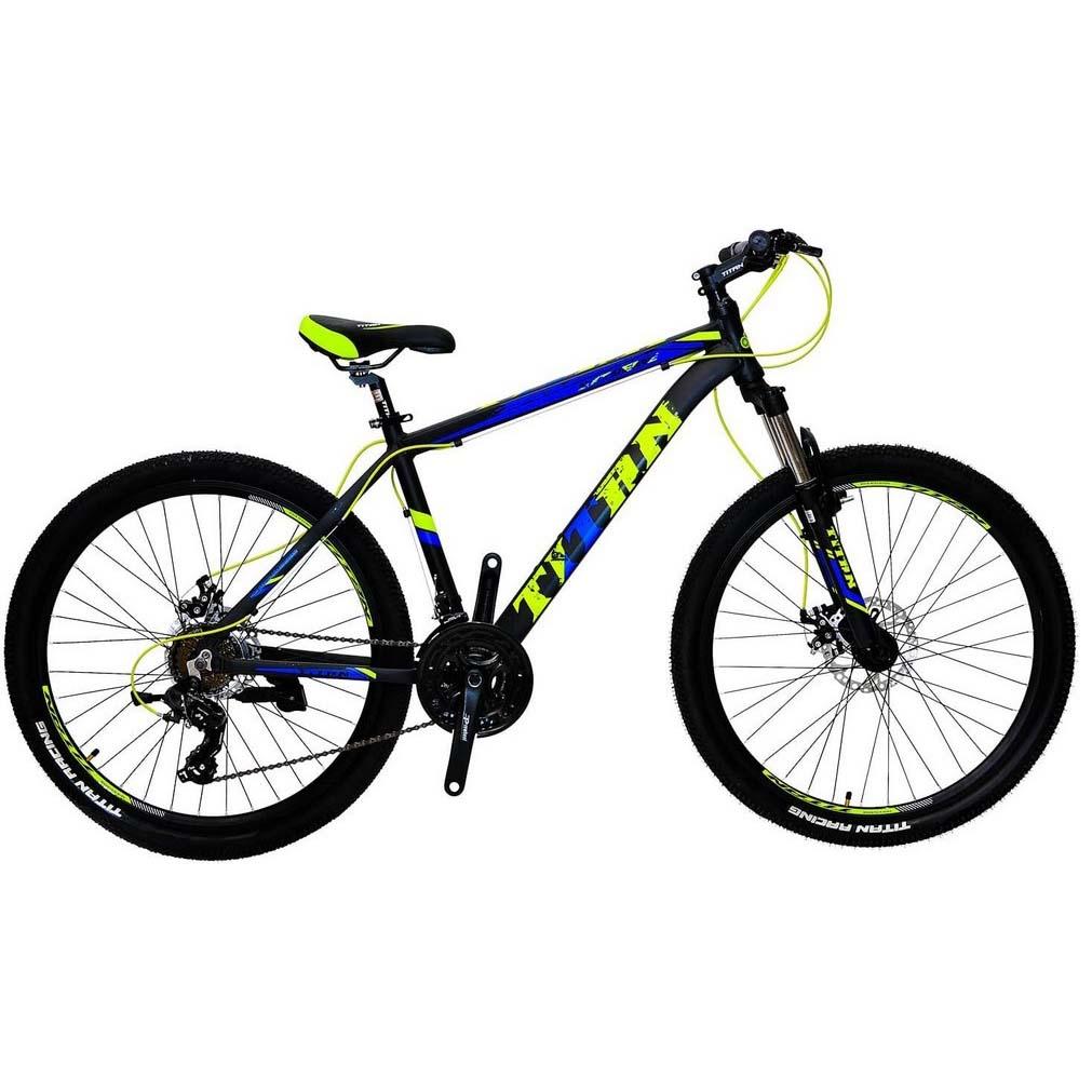 Фото Горный Велосипед 29 Titan Extreme черно-зелено-синий 2019