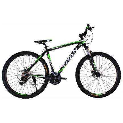 Фото Горный Велосипед 29 Titan Solar  черно-зелено-белый  2019