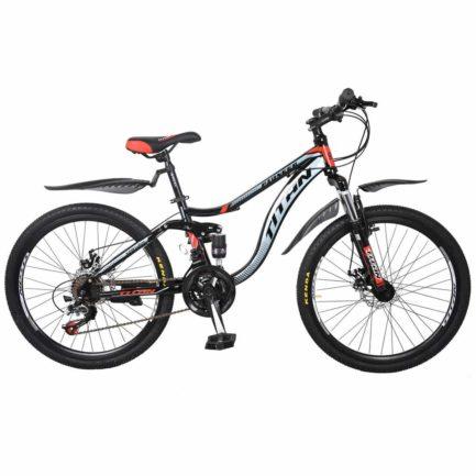 Фото Горный Велосипед 26 Titan Pioneer черно-серо-красный 2019